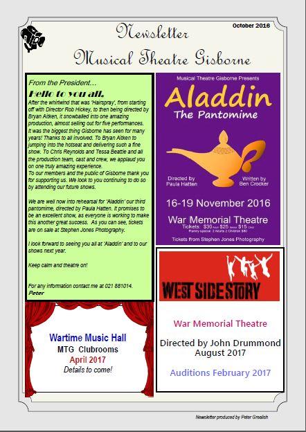 Newsletter Oct 2016