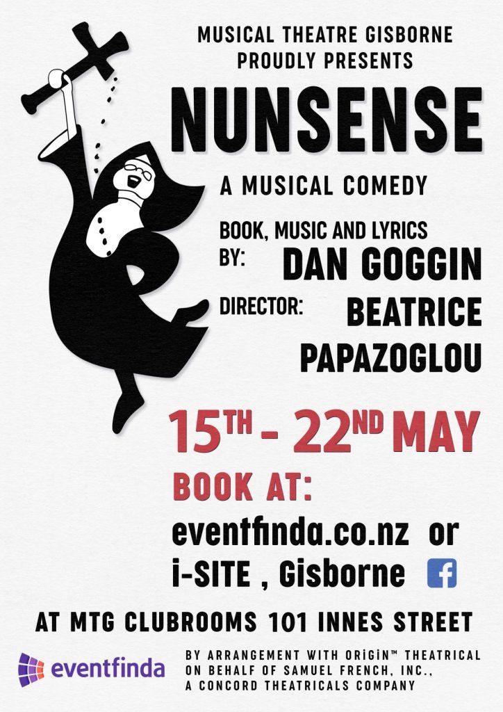 Nunsense Gisborne 15th to 22nd May 2021